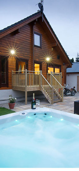Log cabin hot tub stay uk
